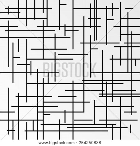 Vector Modern Abstract Pattern With Crossed Lines On White Background