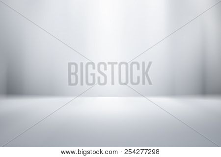 3d Illustration Background / Abstract Gray Empty Room Studio Gradient Used For Background And Displa
