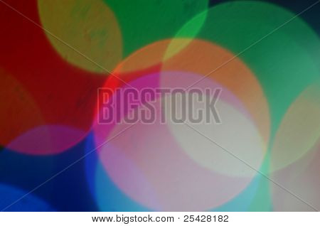 Abstract of colorful circles