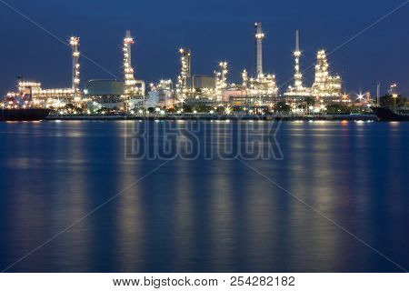Oil Refinery At Bangkok, Locations In Thailand.
