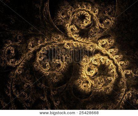Beautiful Ornate Vintage Gold Texture