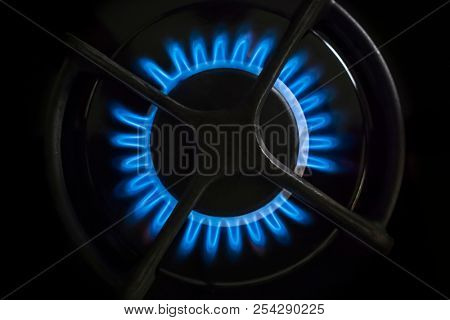 An image of a gas stove flame