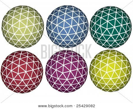 Vector set of spheres