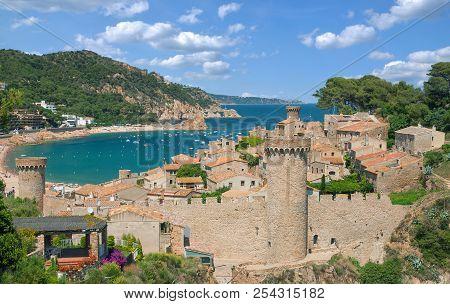 The Popular Medieval Village Of Tossa Der Mar At Costa Brava,catalonia,mediterranean Sea,spain