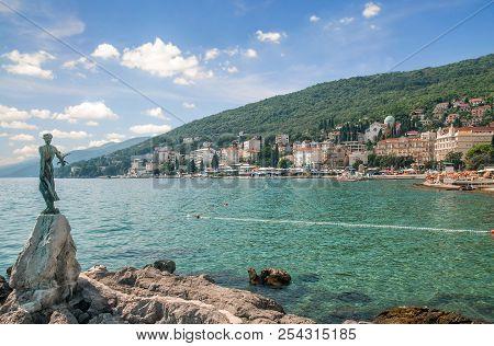 Town Of Opatija At Adriatic Sea In Istria,croatia