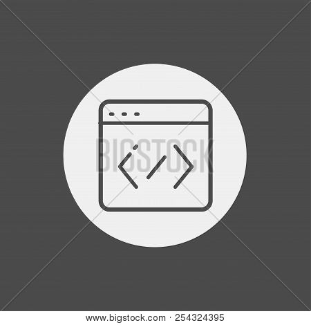 Coding Color Line Icon Vector Flat Icon. Elements For Mobile Concept And Web Apps. Thin Line Icons F