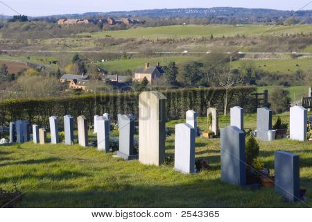 Tardebigge churchyard on the route of the monarchs way long distance footpath Worcestershire. poster