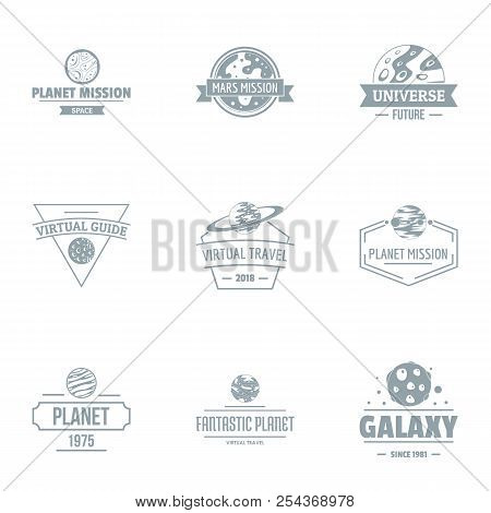 Galaxy Size Logo Set. Simple Set Of 9 Galaxy Size Vector Logo For Web Isolated On White Background