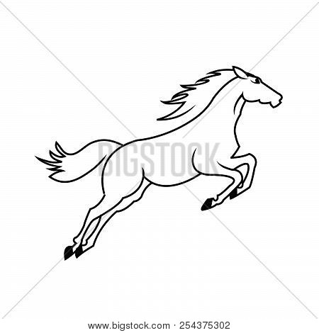 Horse Standing On Three Paws Icon, Horse Standing On Three Paws Icon Eps10, Horse Standing On Three
