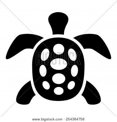 Exotic Turtle Icon. Simple Illustration Of Exotic Turtle Vector Icon For Web Design Isolated On Whit