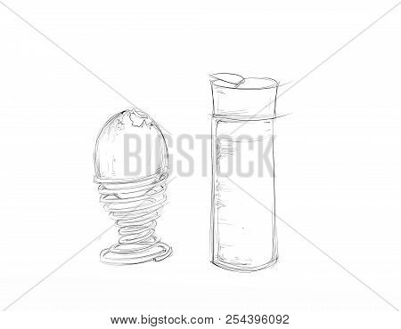 Egg To Coche  Illustrations, Realistic Cartoon Black And White Stroke References Taken Gives Free Do