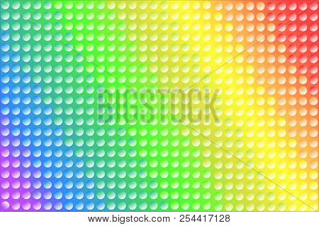 Colorful Rainbow Texture Background Of Gradient Colors And Dots, Used Lgbt Pride Flag Colors, Symbol