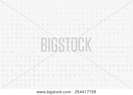 Abstract Bumpy Surface Texture Of Gradient White And Gray Round Dots. Vector Illustration, Eps10. Ca
