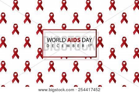 World Aids Day. Aids Awareness. Aids Red Ribbon. World Aids Day 1 December. Logo Vector. Icon Vector