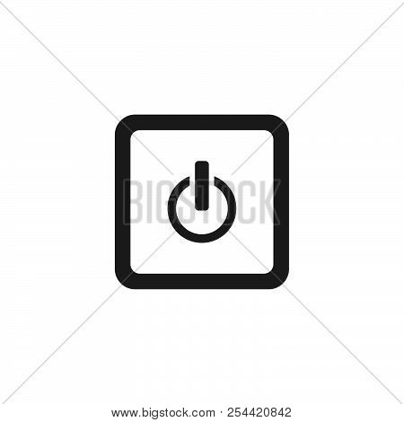 Power Button Vector Icon On White Background. Power Button Icon Sign For Logo, Website, App, Ui. Pow