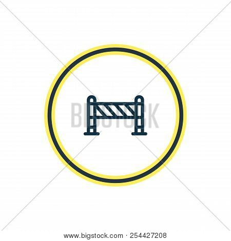 Vector Illustration Of Barrier Icon Line. Beautiful Architecture Element Also Can Be Used As Roadblo