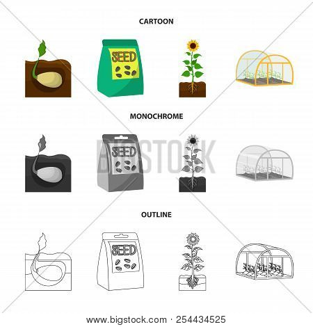 Company, Ecology, And Other Web Icon In Cartoon, Outline, Monochrome Style. Husks, Fines, Garden Ico