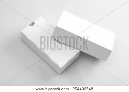 Blank Product Packaging Open Box For Mock Ups