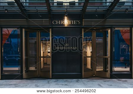 New York, Usa - May 30, 2018: Entrance To Christies Salesroom In Midtown Manhattan, New York. Founde