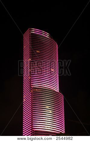 Pink Skyscraper In Miami