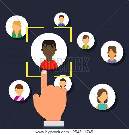 Outsource Management Illustration Development Business Corporate Teamwork Sign. Resources Manage Emp