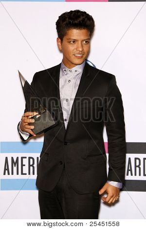 LOS ANGELES - NOV 20:  Bruno Mars. in the Press Room at the 2011 American Music Awards at Nokia Theater on November 20, 2011 in Los Angeles, CA