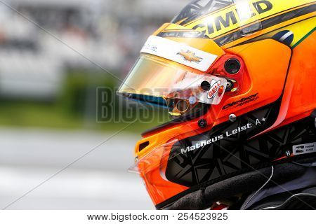 August 18, 2018 - Long Pond, Pennsylvania, USA: MATHEUS LEIST (4) of Brazil take to the track for the ABC Supply 500 at Pocono Raceway in Long Pond, Pennsylvania.