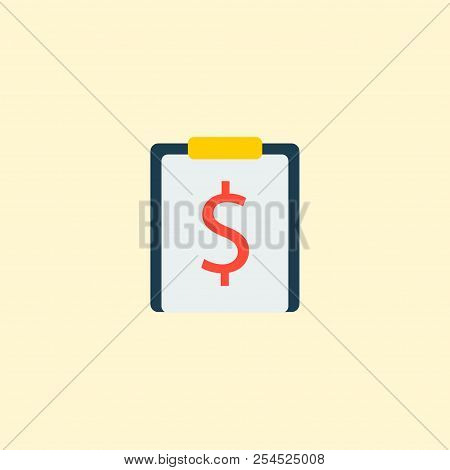 Financial Task Icon Flat Element. Vector Illustration Of Financial Task Icon Flat Isolated On Clean