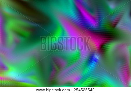 Pink Cyan Green Mysterious Explosion Wrinkly Strokes Creative Picture Design