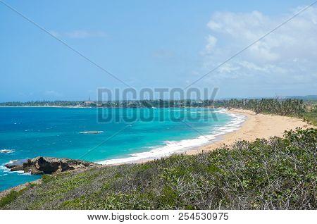 Overlooking Atlantic Coast From Punta Marillos Within Lighthouse Historic Park Arecibo Puerto Rico