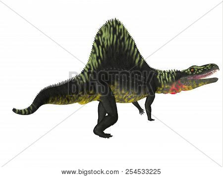 Arizonasaurus Dinosaur Tail 3d Illustration - Arizonasaurus Was A Carnivorous Theropod Dinosaur That