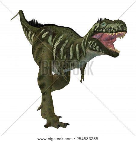 Bistahieversor Dinosaur On White 3d Illustration - Bistahieversor Was A Carnivorous Theropod Dinosau