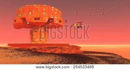 Spaceport On Mars