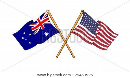 American And Australian Alliance And Friendship