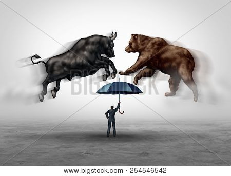 Stock Market Crash Security And Financial Economic Risk Protection With Bear And Bull Markets As A T