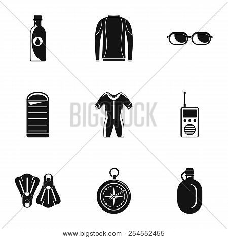 Submersion Icons Set. Simple Set Of 9 Submersion Icons For Web Isolated On White Background