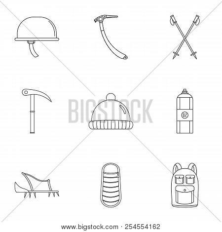 Highlander Icons Set. Outline Set Of 9 Highlander Icons For Web Isolated On White Background