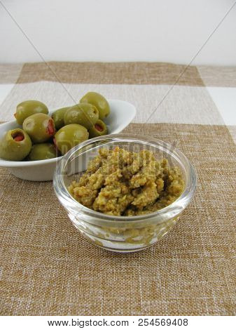 Homemade Olive Paste From Tasty Green Olives