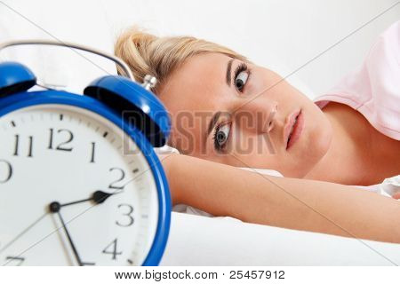 clock with sleepless at night.