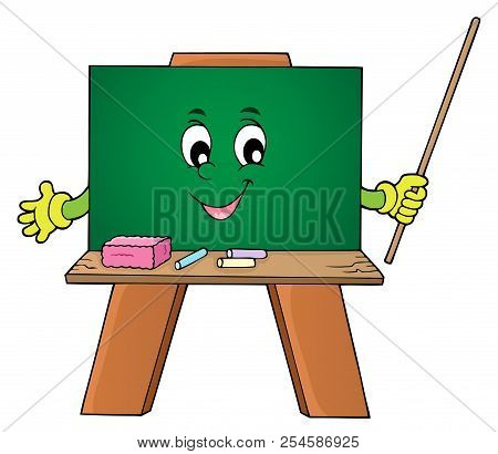 Happy Schoolboard Theme Image 1 - Eps10 Vector Picture Illustration.