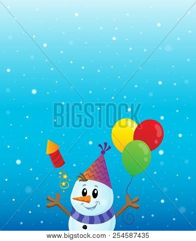 Party Snowman Theme Image 3 - Eps10 Vector Picture Illustration.
