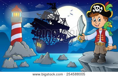 Pirate Boy Topic Image 3 - Eps10 Vector Picture Illustration.