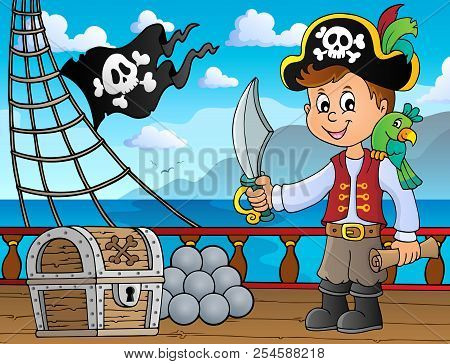 Pirate Boy Topic Image 4 - Eps10 Vector Picture Illustration.