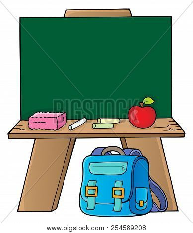 Schoolboard Topic Image 1 - Eps10 Vector Picture Illustration.