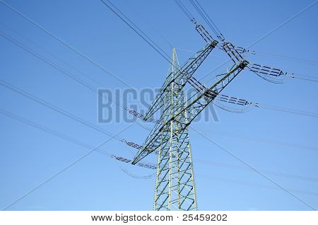 Utility pole with wires