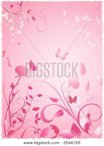 Pink Floral Rose Garden