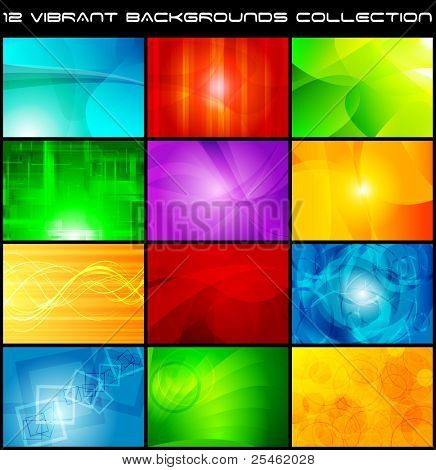 Set of bright abstract backgrounds