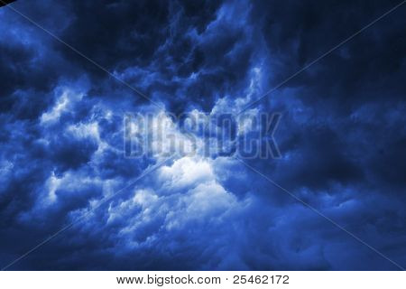 Dark thunderclouds