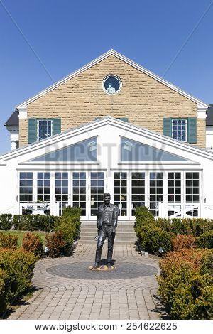 Randers, Denmark - May 5, 2018: Graceland Randers Also Called Memphis Mansion Is Inspired By Elvis P