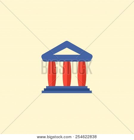 Court Icon Flat Element.  Illustration Of Court Icon Flat Isolated On Clean Background For Your Web